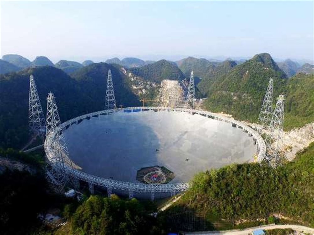 چین بزرگترین و حساسترین تلسکوپ رادیویی جهان را افتتاح کرد