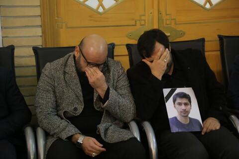 مراسم بزرگداشت جانباختگان حادثه سقوط هواپیما در حرم حضرت معصومه (س)