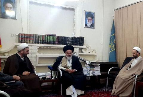 آیتالله حسینی بوشهری در دیدار جمعی از مسئولین دادگستری استان قم