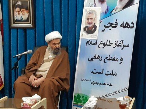 تصاویر/ دیدار اعضای ستاد بزرگد اشت دهه فجر کاشان با آیت الله نمازی
