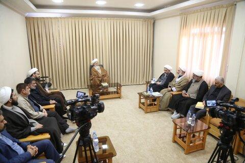 حضرت آیت الله جوادی آملی در دیدار جمعی از اعضای خانه حکمت اصفهان