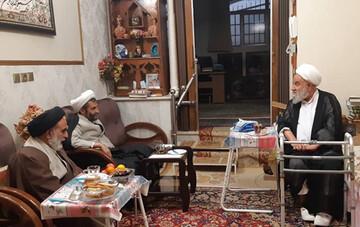 دیدار رئیس مرکز خدمات حوزههای علمیه با آیت الله باکویی