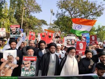 بالصور/ مسيرة مناهظة لأميركا في مومباي بالهند