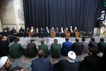 فیلم| بزرگداشت جانباختگان سقوط هواپیما در مسجد اعظم قم