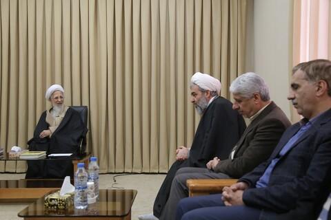 دیدار اعضای خانه حکمت اصفهان با آیت الله العظمی جوادی آملی