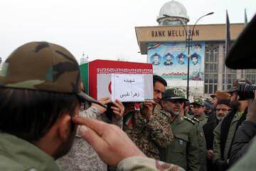 تصاویر/ مراسم تشییع پیکر جانباختگان سقوط هواپیما در همدان