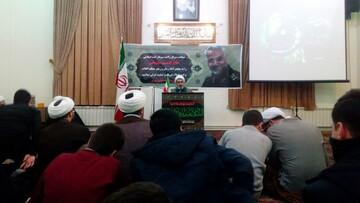 تصاویر/ مراسم بزرگداشت سردار سلیمانی و جانباختگان سقوط هواپیما در مدرسه علمیه طالبیه تبریز