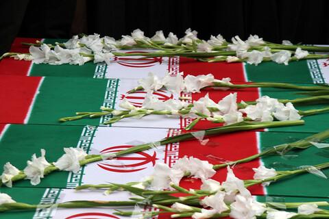مراسم تشییع پیکر جانباختگان سقوط هواپیما در همدان