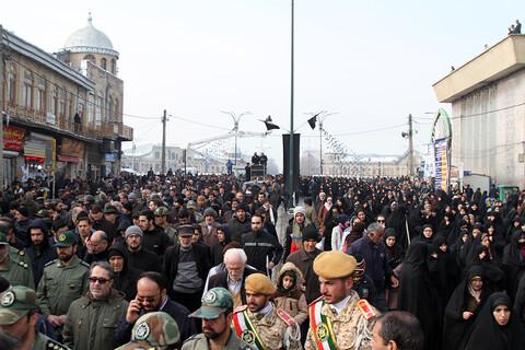 تصاویر/ مراسم تشییع شهدای سانحه هواپیمای اوکراینی در همدان