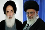 پیام رهبر انقلاب به آیت الله سیستانی در پی عارضه جسمانی ایشان