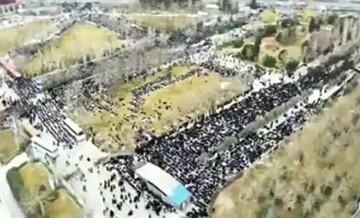 فیلم| تصاویر هوایی از حضور باشکوه مردم انقلابی در نمازجمعه تهران