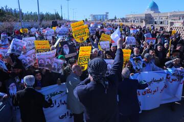 تصاویر/ راهپیمایی مردم بیرجند در حمایت از سپاه پاسداران انقلاب اسلامی