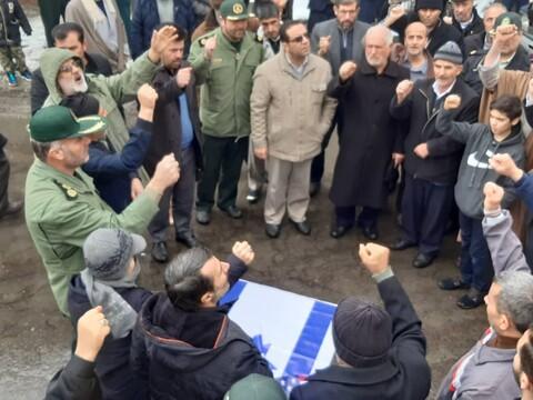 راهپیمایی نمازگزاران بنابی در حمایت از سپاه پاسداران و امنیت میهن