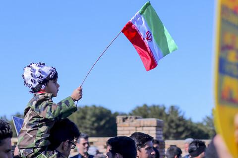 راهپیمایی مردم بیرجند در حمایت از سپاه پاسداران انقلاب اسلامی