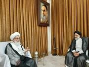 دیدار نماینده ولی فقیه در خوزستان با مراجع و علمای قم+ عکس