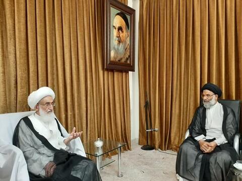 دیدار حجت الاسلام والمسلمین موسوی فرد با مراجع تقلید