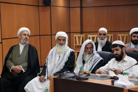 دیدار روحانیون اهل سنت و شیعه سیستان و بلوچستان با آیت الله فاضل لنکرانی