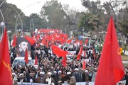 تصاویر/ راهپیمایی مرگ بر آمریکا در مقابل سفارت آمریکا در پاکستان
