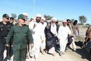 تصاویر/ حضور نماینده ولی فقیه در هرمزگان در مناطق سیل زده شرق هرمزگان و شهرستان جاسک