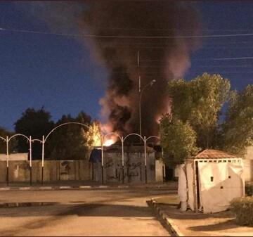 اغتشاشگران مقر حزبالله عراق در نجف را آتش زدند