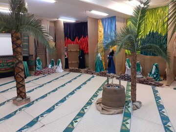 برپایی نمایشگاه یاس نبی به مناسبت شهادت حضرت زهرا(س) در جامعه الزهرا+ تصاویر