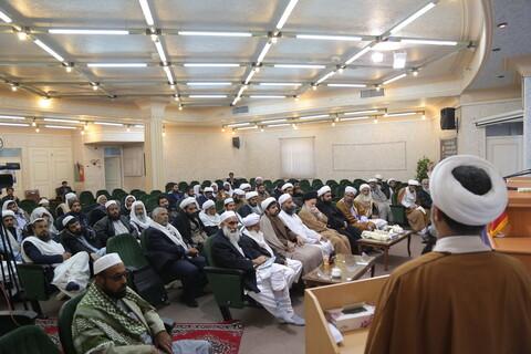 دیدار روحانیون شیعه و اهل سنت سیستان و بلوچستان با آیت الله حسینی بوشهری