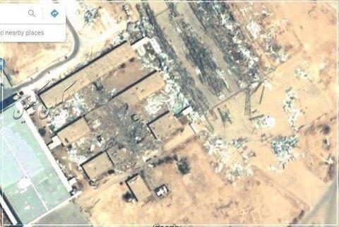 شواهد ماهواره ای از ضربه موشکی به عین الاسد