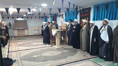 تصاویر/ مراسم سوگواری ایام شهادت حضرت زهرا (س) در مدرسه علمیه امام صادق (ع) بیجار