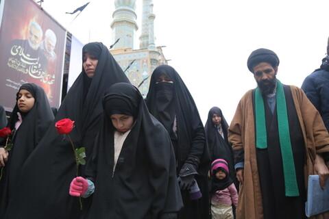 تشییع پیکر شهید مدافع حرم حجت الاسلام والمسلمین سید رحمت الله موسوی در قم