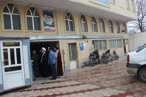 بازدید معاون منابع انسانی و پشتیبانی ساختمان جدید مرکز مدیریت قزوین و مدرسه علمیه شهرستان تاکستان