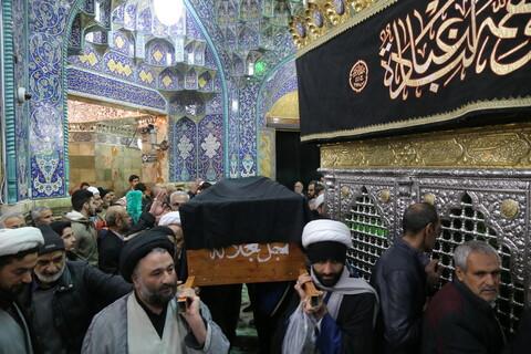 مراسم تشییع همسر فرزند حضرت آیت الله علوی گرگانی در قم