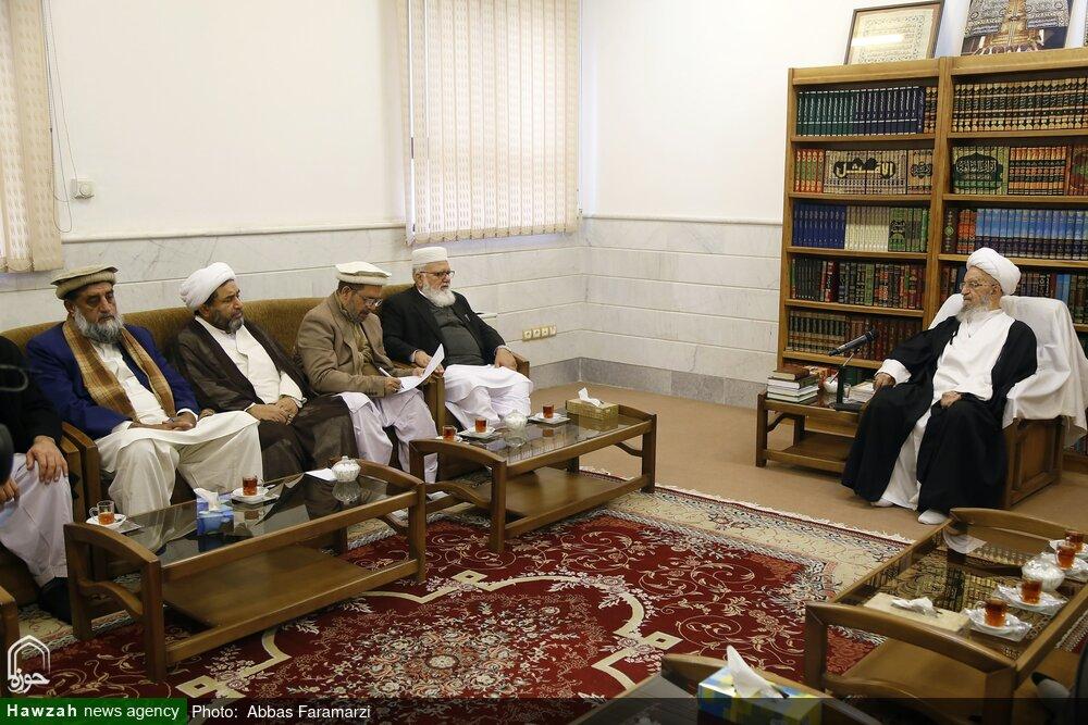 تصاویر/ دیدار جمعی علمای پاکستان با آیت الله العظمی مکارم شیرازی