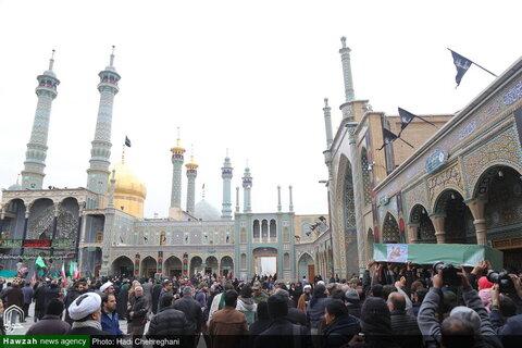 بالصور/ تشييع جثمان الشهيد حجة الإسلام المسلمين السيد رحمة الله الموسوي من شهداء المدافعين عن المقدسات بمدينة قم