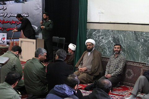 مراسم ترحیم جانباختگان سقوط هواپیما در همدان