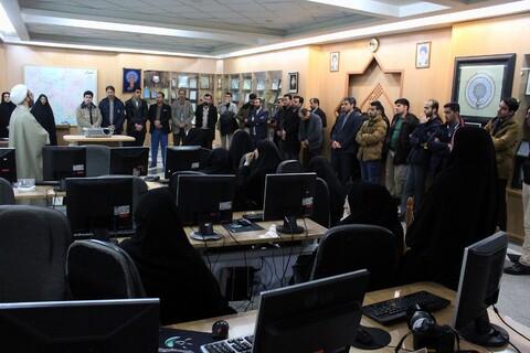 تصاویر/ بازدید اعضا بسیج رسانه خراسان از مرکز کامپیوتری نور