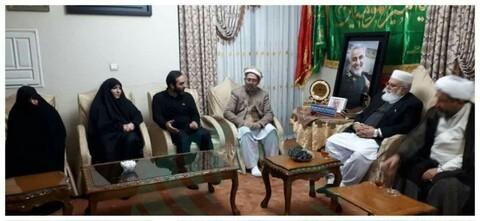 اعضای شورای همسبتگی ملی پاکستان با خانواده شهید سردار سلیمانی دیدار کردند+تصاویر