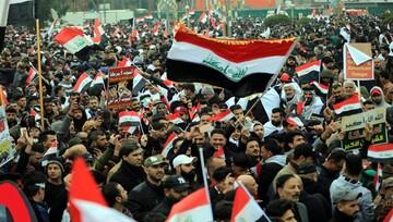 تصاویر/ تظاهرات میلیونی مردم عراق در مخالفت با حضور آمریکا-۱