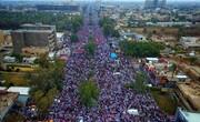 بالصور/ تظاهرة كبيرة وسط بغداد ترفض الوجود الأمريكي بالعراق (۱)