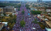 تصاویر/ تظاهرات میلیونی عراقی ها در مخالفت با حضور آمریکا-۲