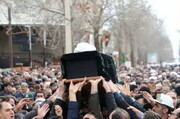 برودت هوا مانع وداع مردم با آیت الله بلندنظر نشد+ عکس