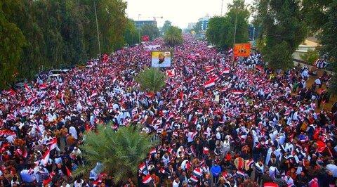 تظاهرات میلیونی عراقی ها