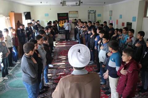 تصاویر/ همایش دانش آموزی فاطمیون با حضور مدیر مدرسه علمیه خوی در شهرستان خوی