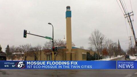 نخستین مسجد زیست محیطی در مینه سوتا که برای مبارزه با سیل ایجاد شد