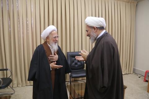دیدار مدیر حوزههای علمیه خواهران با آیت الله العظمی جوادی آملی