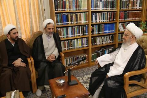 دیدار رئیس سازمان بازرسی کل کشور با آیت الله العظمی مکارم