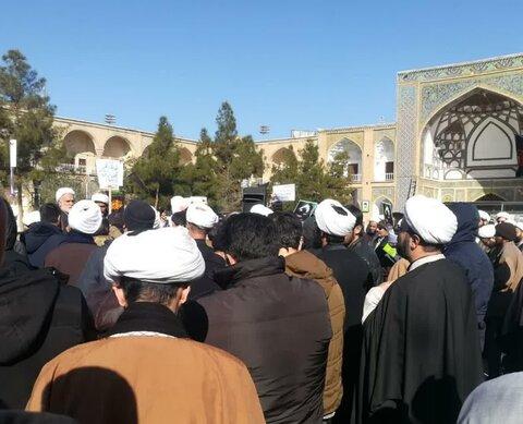 تجمع طلاب در اعتراض به مصاحبه وزیر امور خارجه با اشپیکل