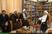 بالصور/ رئيس هيئة التفتيش العامة الإيراني يلتقي بمراجع الدين والعلماء بقم المقدسة