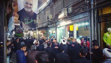 فیلم| عزاداری طلاب در بازار تهران