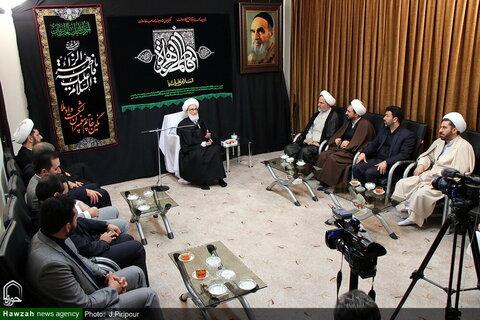 بالصور/ رئيس هيئة التفتيش العامة يلتقي بمراجع الدين والعلماء بقم المقدسة