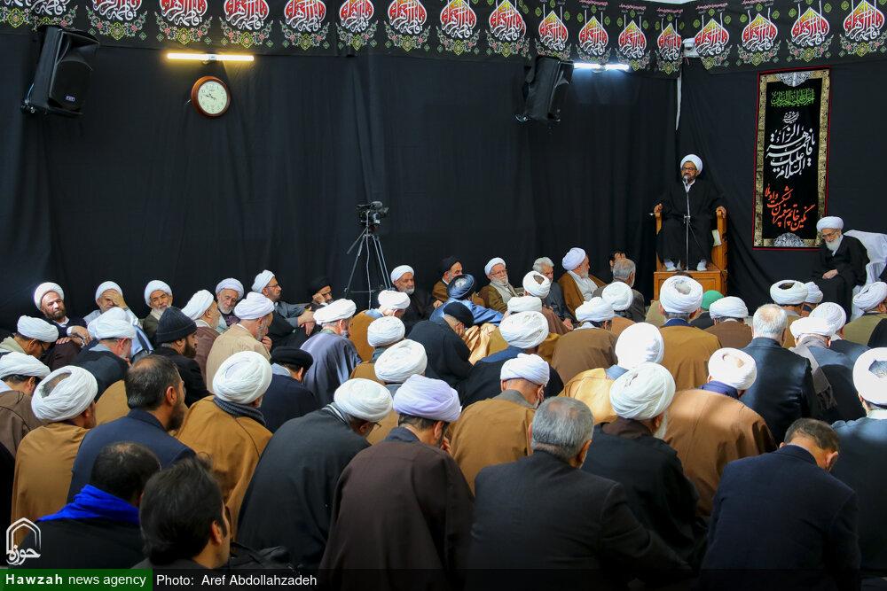 تصاویر/ عزاداری ایام فاطمیه در بیوت مراجع
